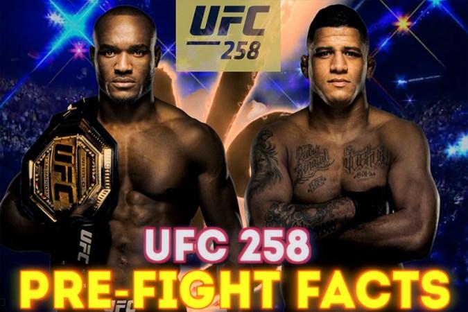 UFC 258 사전 이벤트 사실 : Kamaru Usman의 연속 연승 기록이 역사적인 기록에 근접