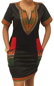 Womens Bohemian Ethnic Traditional Dresses African Tribal Festival Midi Skirts