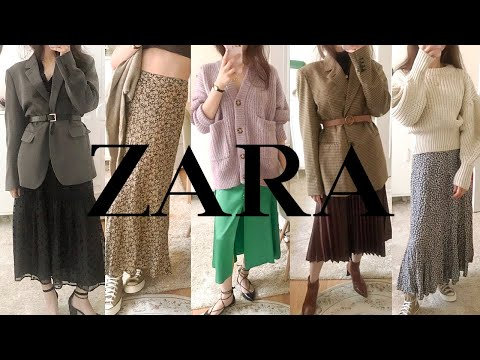 Zara F/W One-Piece & Skirt Howl🍂 13 Recommended/Deprecated Fall Clothes Unboxing |  Autumn Dress/Pleated Skirt/Floral Pattern/Leather/Man-to-Man/Knit/Shirt ZARA FALL HAUL 2020