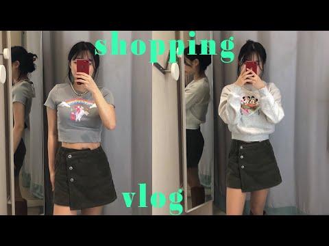 Try on something new at the H&M store🛍/Yongsan I'Park Mall Shopping Vlog/Sukiyaki Mukbang(?)/H&M try on haul    rosynozy