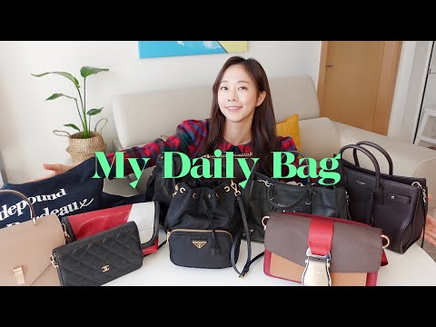 9 kinds of my favorite daily bags 👜♥️ MY DAILY BAG