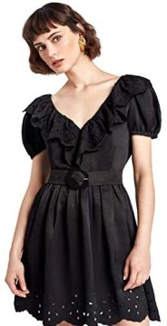 NOCTURNE Eyelet Mini Dress
