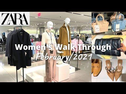 ZARA和我一起购物| 新系列2021年2月| 店铺浏览| 女士时装/手袋/鞋子
