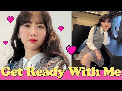 (eng) Get ready for teen preppy look 🎓🏫 The day my friend curled up GRWM High-teen preppy look |  Minjeong Park