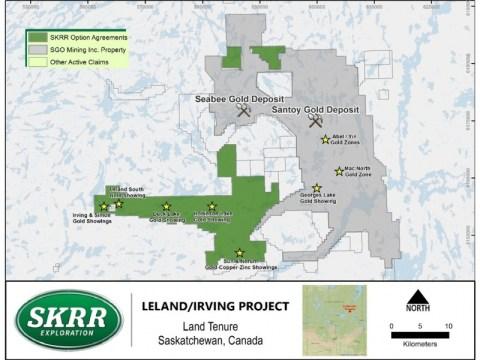 SKRR Exploration Inc., 투자자 포럼 참석 및 드릴 프로그램, Irving / Leland Gold Property의 Quartz Veining 교차