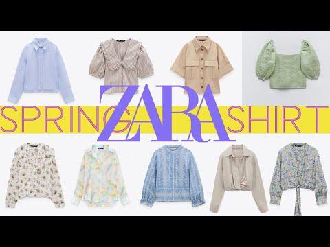 ZARA 2021 Zara春季推出9款新衬衫|  Zara春季衬衫造型