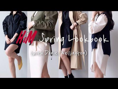H&M HAUL | 👗 H&M New Spring Dress (with Daniel Wellington) |  h & m spring lookbook |  ดูเครื่องประดับจัดแต่งทรงผม