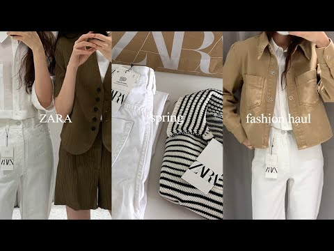 2021 S/S Zara Howl.  Try on your ZARA spring new outfit.  Spring fashion howl lookbook.  Daily look & opening look coordination recommended.  ZARA spring fashion haul