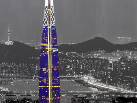 [eGallery] Jangan kaget dengan Lotte Tower yang penuh warna …  Lee Geun-taek 'Bayar Burritt'