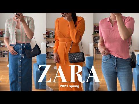 ZARA 2021 Spring New Howl 2nd 👗✨ (Cardigan, Denim Skirt, Denim, Dress, T-shirt)