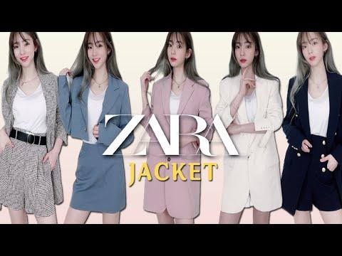Эта новая легенда Zara … Я выбрал симпатичную весеннюю куртку Zara и купил все!  ZARA куртка haul fashion howl / блейзер рекомендуется обзор / верхняя одежда, укороченная куртка