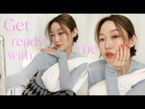 (ENG) Getredu GRWM that I prepared only with new products 🤳🏻 Cool tone look after a long time 🐷 (But cancel appointment jam…)