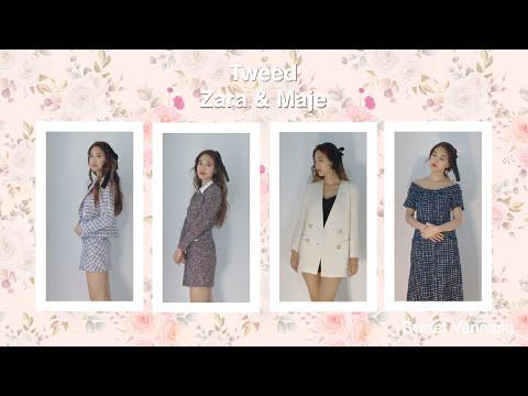 I tried on Zara Tweed Set and Maju Tweed Dress~