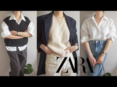 Zarahowl |  Spring new recommended/not recommended 💚 Life shirt, knit best, denim, long skirt, one piece ZARA 2021 S/S HAUL