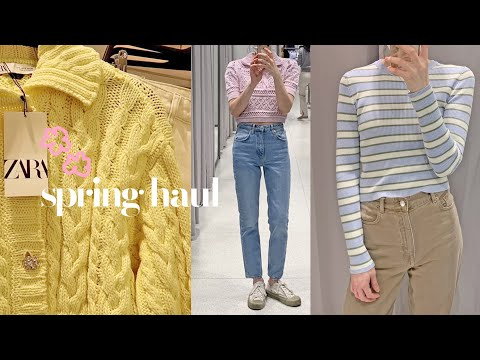 ZARA SS Zara Shinsang Howl / Refreshing Spring 🌺 / Try on the spring and summer daily look together / Blouse, cardigan, shirt, dress ++ We prepared a variety!  / ZARA haul Zara haul