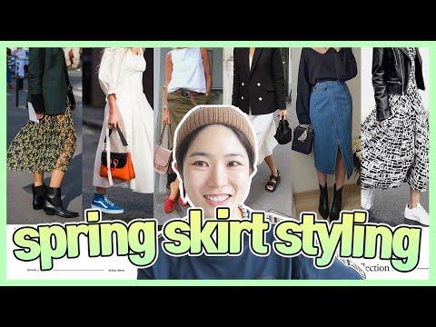 Ключ в том, как носить платье и юбку 🤗 Очень важна координация обуви ☆ Попробуйте надеть это в этом году ~