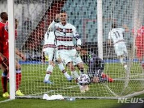 Gol pertandingan Portugal'Ronaldo A 103 'dikalahkan 3-1 di Luksemburg