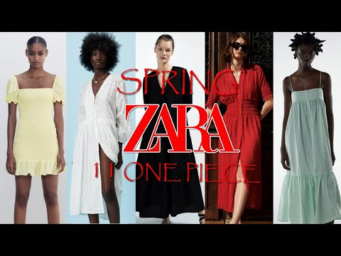ZARA Zara Spring New One Piece Introduction Part 2!!!  |  Try on 11 dresses together 👗