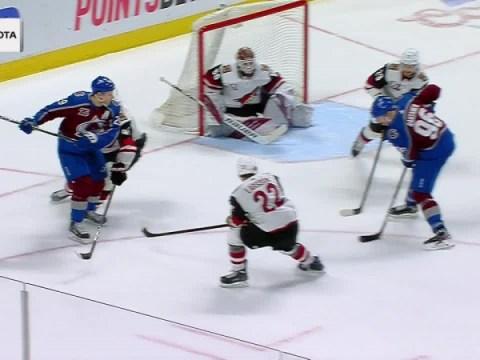 골이있는 Mikko Rantanen vs. Arizona Coyotes