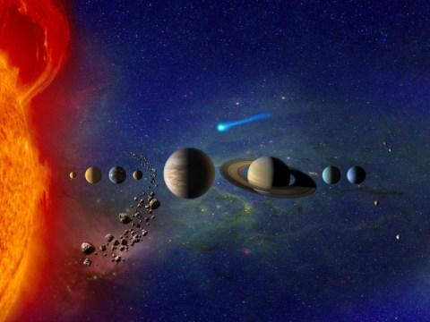태양계 행성 : 8 개 (또는 9 개) 행성의 질서