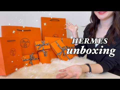 Brief introduction of Hermes product unboxing howl!  🔥 Check it out like new products in 2021    Hermes One Brand Unboxing Haul    Luxy Luxy