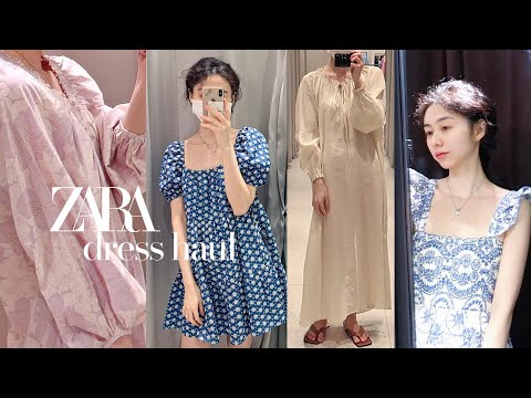 ZARA SS Zara new howl / One piece restaurant💐 / One piece look that is comfortable and beautiful to wear anytime / Spring and summer daily look / Zara dress with good cost performance and quality / ZARA haul Zara Howl