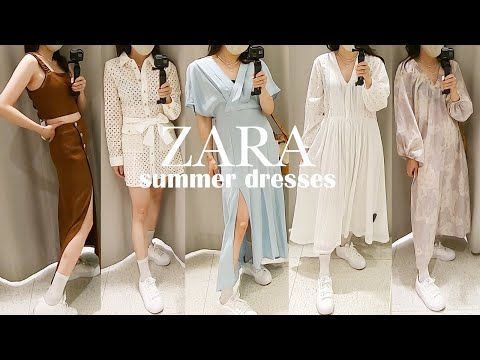 ZARA store summer new look / I tried on 8 Zara dresses!