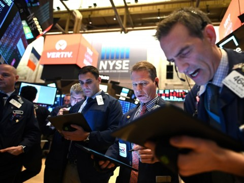 US stocks tumble from record highs as tech shares drag indexes lower