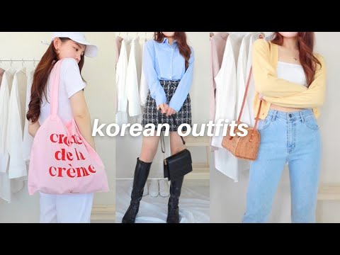 korean outfit ideas pt 2 💐 a lookbook