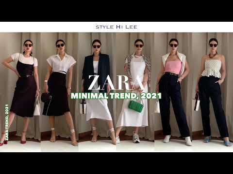 [ZARA] Zara 2021 Barcelona Travel Fashion Part 1, Minimalist.  Shin Sang-how / Атласное платье / Укороченная рубашка / Трикотаж / Стиль штанов для папы рекомендуется согласовывать