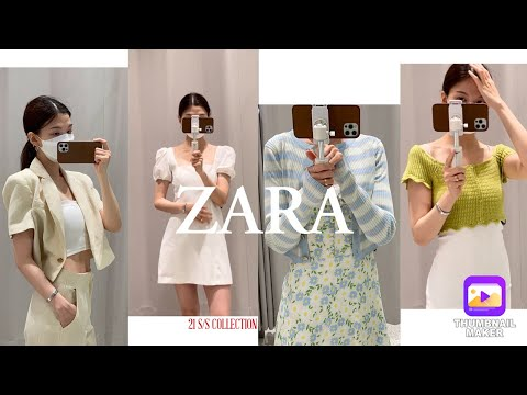 ZARA Trying on a New Costume Part 2 |  Zara New Statue|  Zara One Piece Blazer Crop Top Shirt Blouse Pants Try on all 🌻