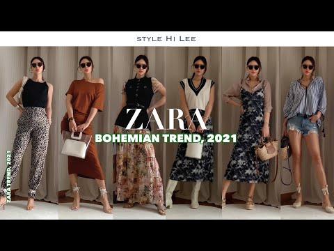 [ZARA] Zara 2021 Barcelona Travel Fashion Part 2, Bohemian.  New Howl / Crop Top / Pants / One Piece / Knit Best Styling Coordination Recommendation