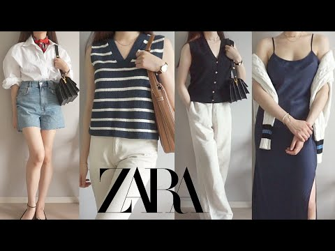 Zarahowl |  We will inform you in advance of recommending/not recommending new summer items 💚 Summer scarf appeared❣ Bermuda shorts, denim, shirt, knit vest, one piece ZARA 2021 S/S HAUL