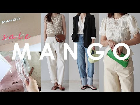 2021 Summer Mango Sale Howl❤/ Let's take a look at the mango sale items together~!/mango haul/fashion haul/fashion lookbook/summer daily look/blouse/pants/knit best/denim pants