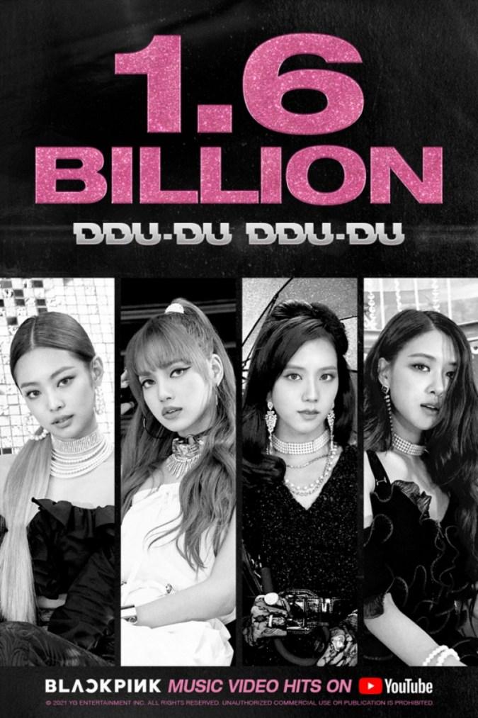'DDU-DU DDU-DU' Blackpink mencapai 1,6 miliar tampilan YouTube
