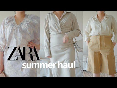 [Zara haul] ZARA's new summer haul!  with 2021 Summer Fashion Trend 💛 (One Piece, Linen, Bermuda Pants, Sandals, etc.)