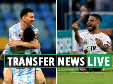 ตัวแทนฟรีของ Lionel Messi เป็นข้อเสนอ PSG บนโต๊ะท็อตแนม 'ต่อสู้กับบาร์เซโลนาเพื่อโอน Insigne' ข่าวเชลซี