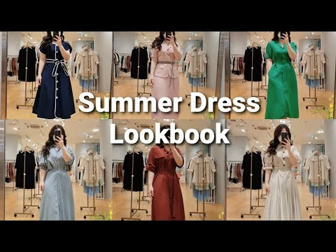 Lookbook 66サイズふっくらコーディネートルックブック  夏身上ワンピースのようにショッピングです  ワンブランド店荒らし   Summer Dress Outfit