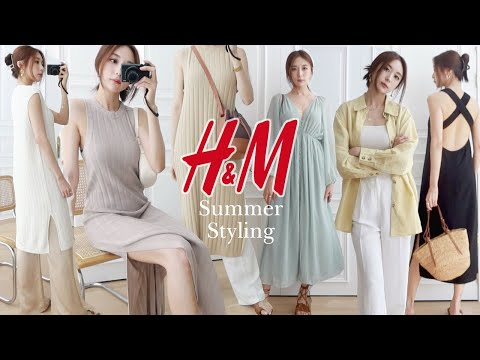 [H&M Howl] 13 new vacation styling🍀/knit dress/summer dress/daily look/daily look/OOTD/fashion/H&M haul