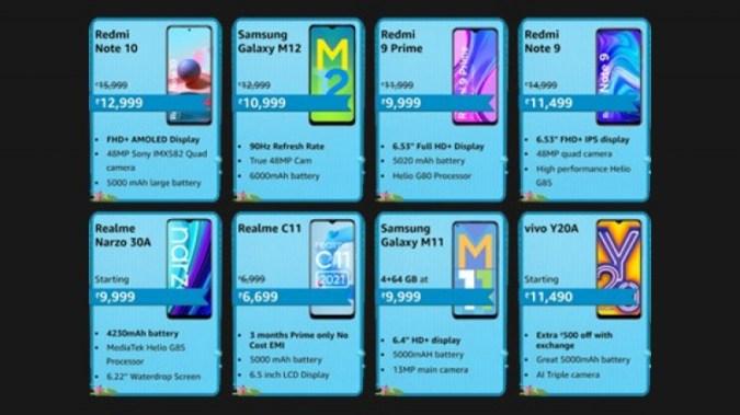 Amazon Prime Day Sale: 새로운 예산 스마트폰에 대한 특별 할인 제공