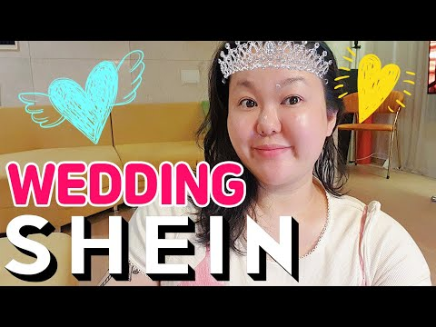 👰🏻♀SHEIN wedding shopping👰🏻♀ |  🎀Actually, Shein was a one-piece restaurant🎀 |  Self wedding, wedding photography, wedding dress, summer dress, big size dress