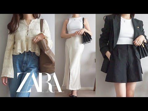 Zarahowl |  New Howl!  Recommended/not recommended 💚 Knit, Bermuda Pants, Satin Skirt, Summer Dress, Poplin Shirt ZARA HAUL 2021