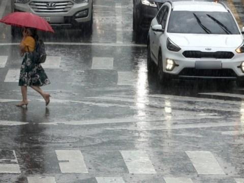 [Cuaca besok] Hujan turun di seluruh negeri…  Waspadalah terhadap hembusan angin, kilat, dan hujan es