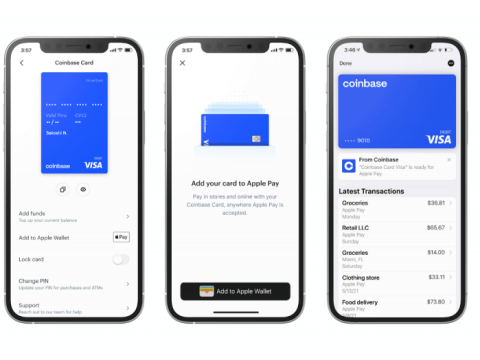 Now use your Coinbase Card with Apple Pay® and Google Pay™