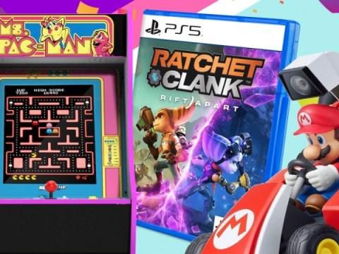 일일 거래: Arcade1Up Ms Pac-Man 캐비닛 40% 할인, Nintendo Switch용 Mario Kart 라이브 홈 서킷 40% 할인, PS5용 Ratchet & Clank: Rift Apart 25% 할인