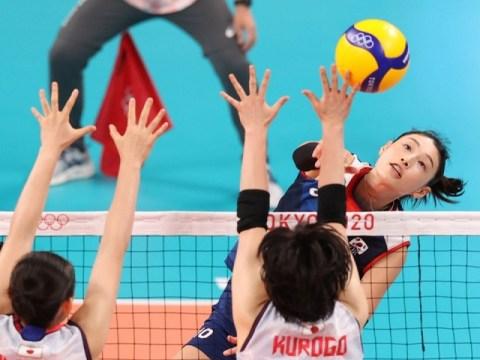 Bola voli putri 'Kim Yeon-kyung 30 poin' mengalahkan Jepang untuk maju ke perempat final