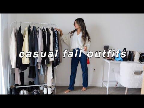CASUAL FALL OUTFITS 🍁 | fall fashion lookbook 2021