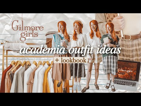 lets watch gilmore girls & style academia outfits + lookbook 🍁
