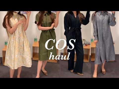[Fashion vlog] New course autumn, dress, jumpsuit, easy look, daily look course, try on, my recommended look.. cos, dress, jumpsuit, daily look