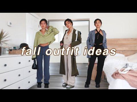 fall outfit ideas | casual & dressy fall lookbook 2021